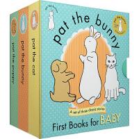 拍拍小兔子 英文原版原装 Pat the Bunny, puppy cat 3本触摸书 经典婴幼儿香味玩具书 亲子教育