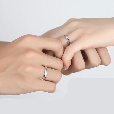 可调节情侣戒指一对刻字活口日韩男女创意开口结婚对戒925银饰品 一对价【开口版】大小可调节 发货周期:一般在付款后2-90天左右发货,具体发货时间请以与客服协商的时间为准