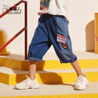 【2件3折到手价:62.7元】小虎宝儿男童牛仔短裤夏季2020新款洋气韩版儿童薄款五分裤宽松潮