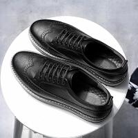 DAZED CONFUSED 秋季潮男鞋子休闲鞋青年潮英伦雕花厚底增高休闲皮鞋男