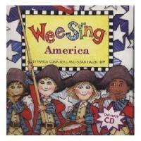 【现货】英文原版儿童书 Wee Sing America [With CD] 有声读物 3-7岁 经典儿歌童谣:美国美