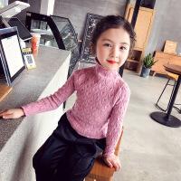 女童打底毛衣套头2018秋冬新款宝宝洋气小童针织衫儿童高领打底衫