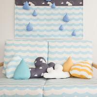 水滴云朵可爱造型家居抱枕靠垫腰枕可拆洗