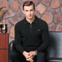 杰克官方琼斯旗舰店对比GX G官网针织衫男毛衣保暖打低衫加厚半高拉链领毛衣中年打底羊毛针织衫