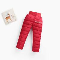 2018秋冬季儿童羽绒棉裤女童加厚外穿裤子男童修身宝宝童装保暖裤