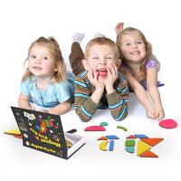 儿童磁贴拼图玩具磁性拼图 宝宝拼图磁力贴片早教玩具