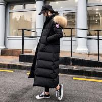 长款羽绒服女2018新款冬季装时尚加厚修身大毛领超长长过膝到脚踝
