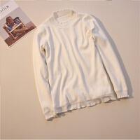 半高领毛衣女士秋冬加绒长袖保暖衣服冬天短款加厚修身针织打底衫