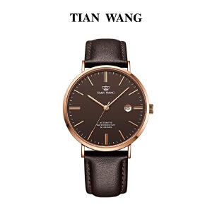 天王表男士自动机械表防水时尚潮流皮带手表简约男表5955