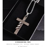 男士十字架项链男韩版吊坠潮人嘻哈脖子挂件学生个性潮百搭装饰品