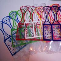 diy饰品材料配件pvc塑料星星折纸礼品盒包装盒收纳盒 7色7个的售价