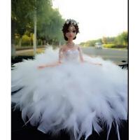 可爱汽车摆件婚纱娃娃公主羽毛大裙摆车载芭比女生礼物车内装饰品惊喜工艺礼物节日礼品