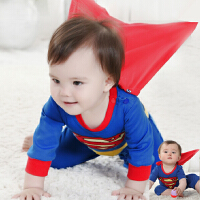 6-12个月宝宝秋装男0一1岁英式婴儿衣服潮款超人衣服男童连体哈衣