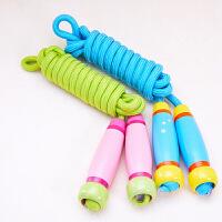 幼儿园儿童跳绳4-12岁男孩女孩木制手柄小学生单人宝宝跳绳可调节