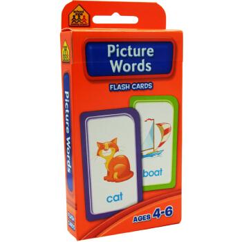 【图解词汇】School Zone Flash Cards Picture Words 英文原版 儿童早教入学准备 字卡闪卡 图解词汇