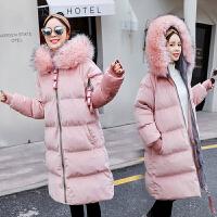 孕妇冬装棉衣羽绒2018新款韩版中长款大毛领棉袄秋冬外套