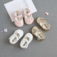 春夏女宝宝学步鞋子单鞋婴儿凉鞋幼儿公主童鞋