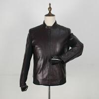 柜子出品秋装新款PU机车皮衣时尚休闲青年皮夹克防风立领外套