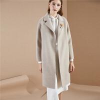 【3折到手价:550】毛呢大衣女冬季新款韩版宽松流行学生羊毛双面呢中长呢子外套