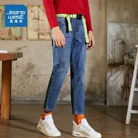 [5折到手价:118.9元,狂欢返场/仅限12.13-16]真维斯男装 2019秋装新款 休闲时尚雨纹牛仔长裤