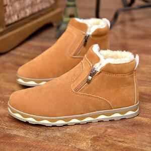 【冬季新款】2017冬季新品男加绒保暖雪地靴男鞋时尚英伦男靴子男士高帮棉靴1516DRJD