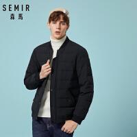 森马羽绒服男新款潮流棒球领男士外套2018冬季短款保暖青年上衣