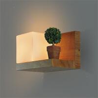 北欧创意原木楼梯壁灯简约卧室床头灯温馨装饰壁灯