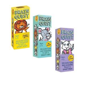 【100减20】 Brain Quest Ages 2-3-4-5-6 岁 Preschool 4盒 英文原版 大脑任务 美国学前全科练习 智力开发问答卡 亲子问答字卡