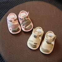 婴儿布凉鞋男女宝宝学步鞋夏季幼儿鞋子