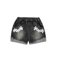 婴儿牛仔裤夏季新款女宝宝小童牛仔绣花短裤