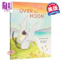 【中商原版】Zoey Abbott:漂浮月亮上 Over the Moon 精品绘本 人类与自然 亲子关系 爱的故事 3
