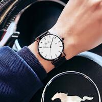 新款男士手表学生简约时尚潮流休闲概念机械男表