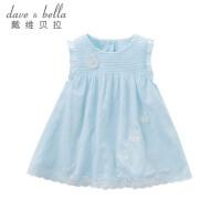 davebella戴维贝拉夏装新款女童连衣裙宝宝连衣裙背心裙DBJ8050
