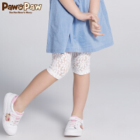 【3件3折 到手价:77】Pawinpaw卡通小熊童装夏款女童休闲打底七分裤