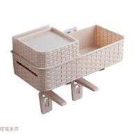 免打孔浴室置物架壁挂卫生间用品厕所马桶塑料收纳架防水纸巾盒