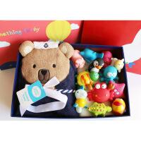 新生儿礼盒婴儿套装礼盒满月礼物初生婴儿用品大全婴儿浴巾 可爱小熊 均码