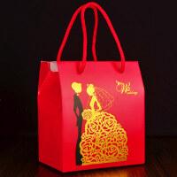 结婚庆用品创意喜糖盒子纸盒婚礼糖果盒个性红色手提袋中式中国风