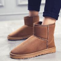 2017冬男女情侣雪地靴高帮加绒休闲鞋潮鞋保暖长靴