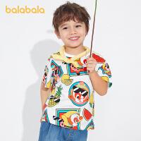 【2件6折价:47.4】【大闹天宫IP】巴拉巴拉儿童T恤男童短袖宝宝2021新款夏装童装