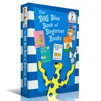 英文原版故事书The Big Blue Book of Beginner Books入门启蒙需收绘本精装6合1 家长们