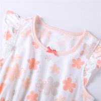 夏装新款套装宝宝短袖T恤公主裙小内裤两件