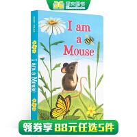 (西文)英文原版I am a Mouse 我是一只老鼠 I Am a Bunny同系列 儿童英语启蒙早教纸板书 亲子阅读 斯凯瑞 0-2-3-4岁