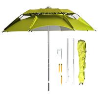 钓鱼伞 万向雨伞三折休闲双层垂钓伞防雨防晒伞通风伞渔具垂钓用品