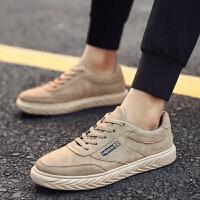 2018新品低帮复古皮革鞋子 男系带休闲男鞋轻便舒适透气防滑板鞋