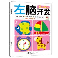 左脑开发5-6岁+右脑开发 全2册小红花5-6岁智力开发 赠贴纸 益智游戏 左脑开发5-6岁+右脑开发