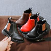 儿童靴子 女童低筒单色侧拉链马丁靴冬季新款韩版儿童时尚休闲舒适百搭鞋子
