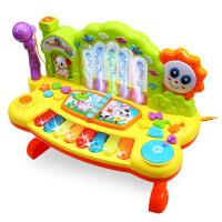 儿童喷泉电子琴音乐早教婴幼儿1宝宝6钢琴0-3岁玩具带麦克风