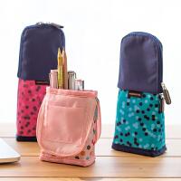 笔袋创意铅笔文具盒男女学生可爱波点文具袋