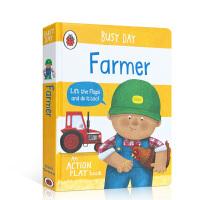 【全店300减100】英文原版进口抽拉机关书 忙碌的一天 农民 Busy Day: Farmer 低幼启蒙探索世界 3-