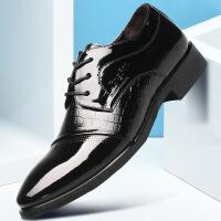 2018春季新款时尚流行男士商务正装男鞋系带尖头鞋子男低帮潮流皮鞋男内增高521ZL